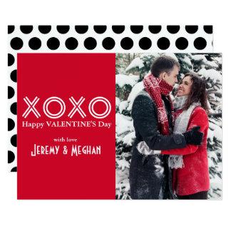 De Kaart van de Foto van XOXO Valentijn 12,7x17,8 Uitnodiging Kaart