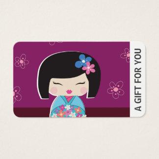 De Kaart van de Gift van Doll van Kokeshi,