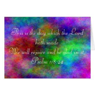 De kaart van de het 118:24regenboog van de psalm