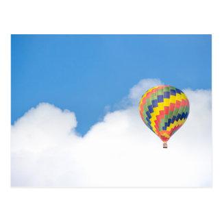De kaart van de hete luchtballon briefkaart