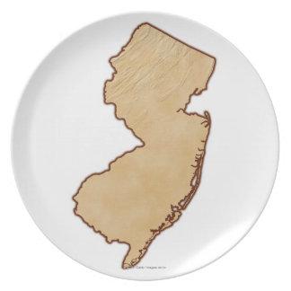 De Kaart van de hulp van New Jersey Bord