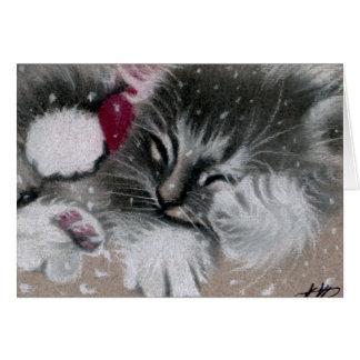 De Kaart van de Kat van het Kat van de kerstman