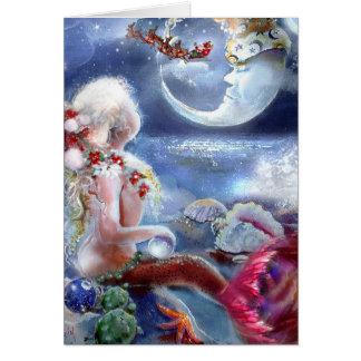 De Kaart van de Kerstavond van een Meermin