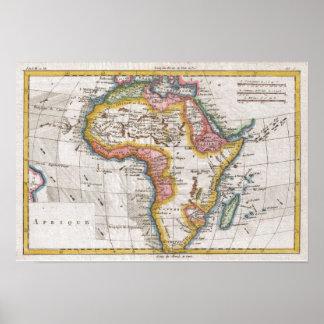 De Kaart van de kleur van Afrika Poster