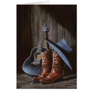 """De kaart van de """"Laarzen"""" van de country muziek"""