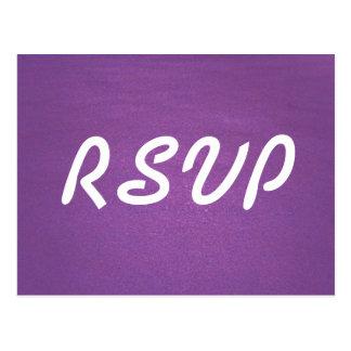 De Kaart van de lavendel RSVP Briefkaart