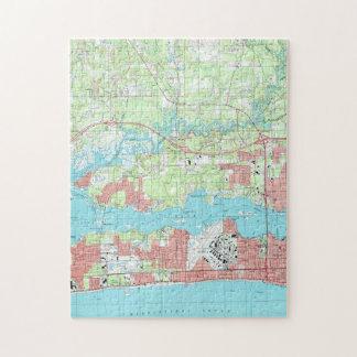 De Kaart van de Mississippi van Biloxi (1992) Puzzel