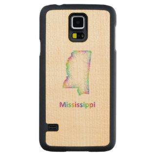De kaart van de Mississippi van de regenboog Esdoorn Galaxy S5 Slim Case