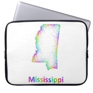De kaart van de Mississippi van de regenboog Laptop Sleeve