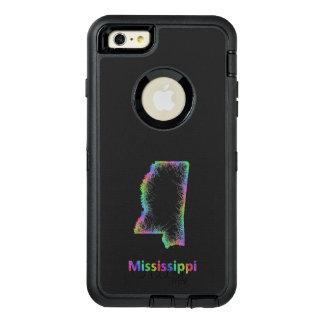 De kaart van de Mississippi van de regenboog OtterBox Defender iPhone Hoesje