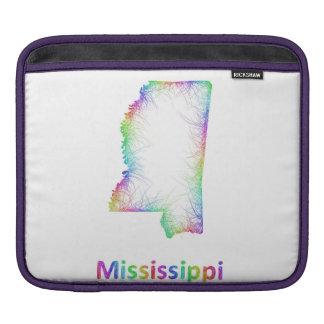 De kaart van de Mississippi van de regenboog Sleeves Voor iPad