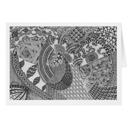 De Kaart van de nota met Art. Zentangle
