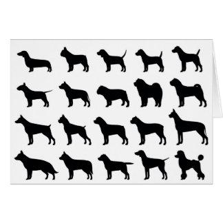 De Kaart van de Nota van de Hond van het multi-ras