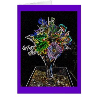 De Kaart van de Nota van Wildflowers van het neon