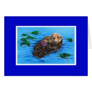 De Kaart van de Otter van het zee