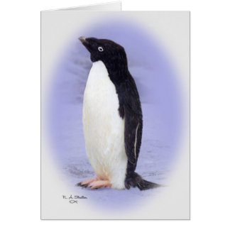 De kaart van de Pinguïn Ade'lie