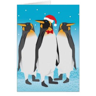 De Kaart van de Pinguïn van Kerstmis