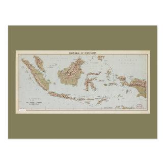 De Kaart van de Republiek Indonesië (1957)