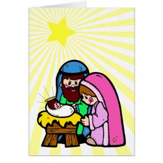 De Kaart van de Scène van de Geboorte van Christus