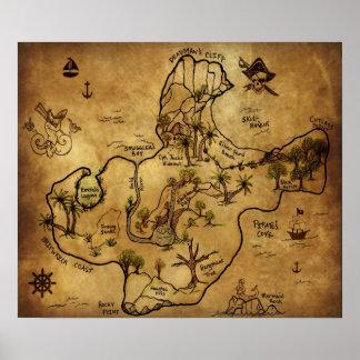 De Kaart van de schat het Eiland van Verloren Scha Plaat