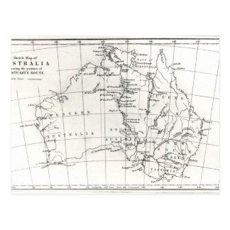 De kaart van de schets van Australië