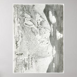 De Kaart van de Sleep van de Berg 1949 van de Poster