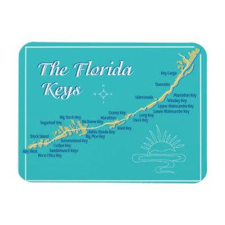 De Kaart van de Sleutels van Florida Magneet