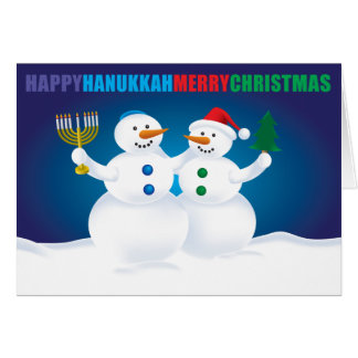 De Kaart van de Sneeuwmannen van Kerstmis van de