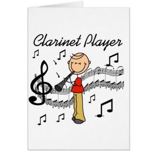 De Kaart van de Speler van de klarinet