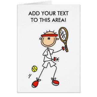 De Kaart van de Speler van het Tennis van het