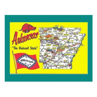 De Kaart van de Staat van Arkansas