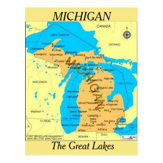 De Kaart van de Staat van Michigan