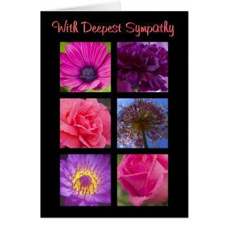 De Kaart van de sympathie - Roze Paarse Bloemen