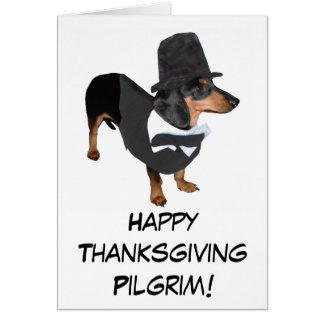 De Kaart van de Thanksgiving van het Puppy van de