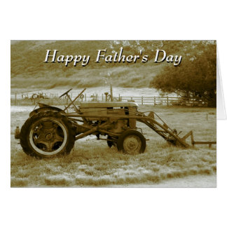 De Kaart van de Tractor van het vaderdag