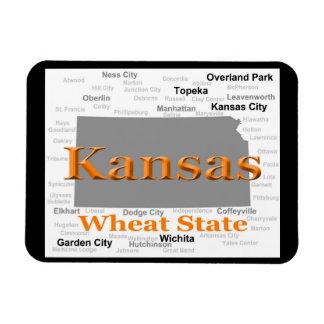 De Kaart van de Trots van de Staat van Kansas Magneet