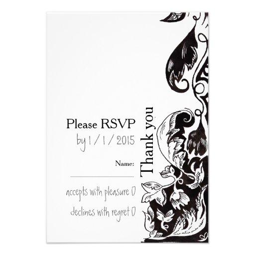 De Kaart van de Uitnodiging RSVP van het Huwelijk