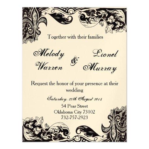 De Kaart van de Uitnodiging van het Huwelijk van