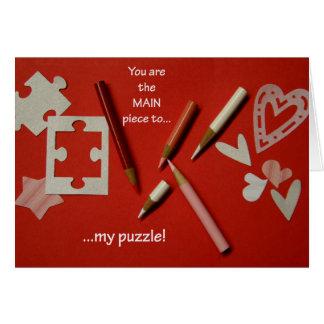De Kaart van de Valentijnsdag van de Minnaars van