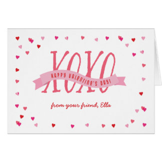 De Kaart van de Valentijnsdag XOXO