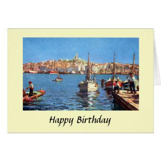De Kaart van de verjaardag - Marseille