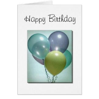 De Kaart van de verjaardag, met Ballons