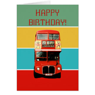 De Kaart van de verjaardag met de Bus van Londen