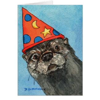De Kaart van de verjaardag met Otter