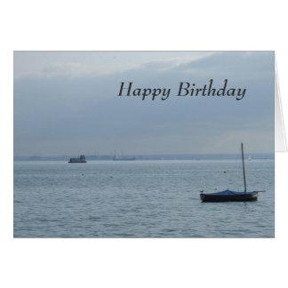 De Kaart van de Verjaardag van de boot & van de