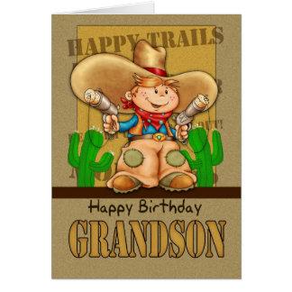 De Kaart van de Verjaardag van de Cowboy van de