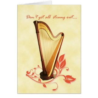 De Kaart van de Verjaardag van de harp