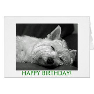 De Kaart van de Verjaardag van de Hond van Westie