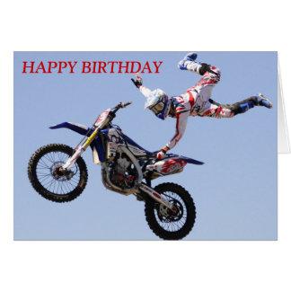 De Kaart van de Verjaardag van de motocross