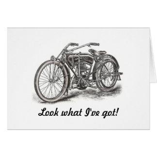 De Kaart van de Verjaardag van de motorfiets